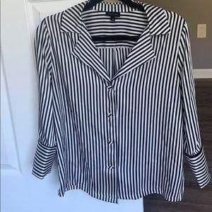 Striped Blazer/ work shirt
